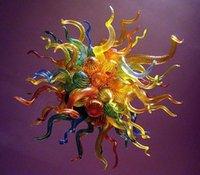 Lampada a forma di lampadario a bolle d'attaccatura 110 / 220V AC LED Multicolor Blown Glass Lighting