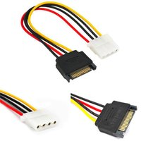 Горячая распродажа 1 шт. 15PIN 15P SATA SERIAL ATA MELE TO MOLEX IDE 4 PIN-код женский M-F жесткий диск адаптер питания силовой линии питания новая