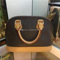 Top Qualität ALMA BB PM Shell Tasche Frauen Echtes Leder Handtaschen Blume Geprägte Umhängetaschen Mit Schloss Designer Handtaschen Umhängetasche