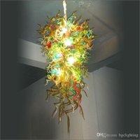 Wedding teto Centerpieces Colorido Luz Murano de vidro soprado bolhas teto acende Dale Chihully Estilo vidro fundido Chandelier