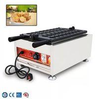 Ticari Mini Balık Waffle Maker Elektrikli Isıtma Balık Şekilli Waffle Kek Makinesi Dolması Balık Kek Fırın Mini Taiyaki Maker