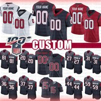 Custom Houston Texans Jersey Cullen Gillaspia Damarea Crockett Duc Johnson Jr. Will Fuller V Higdon Jr Warrin Reid Addae Mercilus Scharping