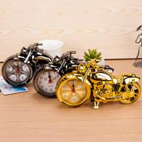 오토바이 알람 시계 홈 인테리어 알람 시계 슈퍼 멋진 오토바이 모델 알람 시계 휴일 크리 에이 티브 레트로 선물 장식 DBC DH0730