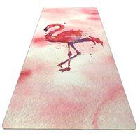Мода йога фитнес коврик качество здоровья нескользящей замши резиновый коврик Путешествия Спорт Фитнес йога пилатес коврик 183 * 61 см * 3.5 мм ZZA868