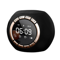 Display a LED Radio FM Orologio Snooze elettronico da tavolo Tavolo portatile wireless Bluetooth digitale Mini sveglia Orologio musicale