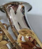 كوكب المشتري JAS-1100SG ألتو ساكسفون إب اللحن براس آلات موسيقية النيكل بالفضة الجسم الذهب الطلاء مفتاح ساكس مع حالة لسان الحال