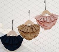 Baby Girls Spring Shorts Pantalones cortos de volantes sólidos de niña Princesa Niños Algodón Bloomers Pantalones Ropa