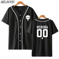 Nouveau Anime Conception Naruto Baseball Shirt À Manches Courtes Veste De Baseball Uchiha Hatake Uzumaki Clan Badge Imprimer Chemises Vêtements Unisexe SH190912