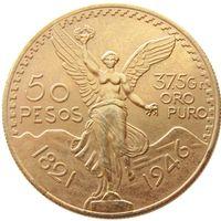 جودة عالية 1946 المكسيك الذهب 50 عملة بيزو نسخة عملة