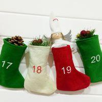 Natal Meias Digital Hanging Decor DIY Advent Calendar Christmas Countdown Felt Calendar presente Garland Meias Decoração adereços FFA3246