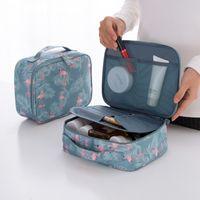 새로운 디자이너 여성 Comestic 가방 19200 PU 가죽 메이크업 가방 뷰티 방수 세척 지퍼 패턴 휴대용 여행 가방 케이스