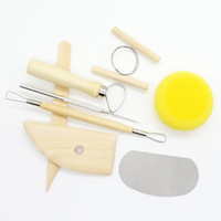 8 teile / satz wiederverwendbare diy keramik tool kit hause handarbeit ton skulptur keramik formen zeichnung werkzeuge lx4919