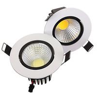 AC100-245V Não-regulável LED Downlight 9 W COB LEVOU Recesso Lâmpada Do Teto Luminária Spot Down Light Quente Branco Quente / Branco