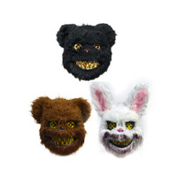 Halloween Horror sanglant lapin tueur Masque Creepy lapin en peluche Ours Masques Cosplay Costume Party Masque accessoires JK2002