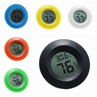 Electronic Thermometer Round Hygrometer Acrylic Box Creep Outdoor Weather Station Forecast Embedded Temperature Hygrometer 6 Colors ZZA997