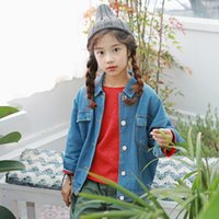 2019 New Spring Korean Children Jeans Coat Sleeve Kids Jeans Jacket Mother and Daughter Jackets Girls Coat Boy Outwear