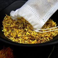 500 pcs 5 * 7 cm Venda Quente Vazio Teabags Food Grade Material de Cura Seal Seal Único Drawstring Sacos de Chá Por Atacado