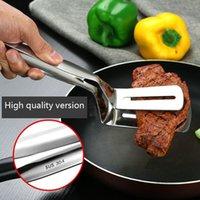 Acciaio inossidabile 304 Steak Flipping Spatola Pinze per grigliate, il barbecue di multi funzione di alimento della cucina Pinze per Flipping hamburger pancake