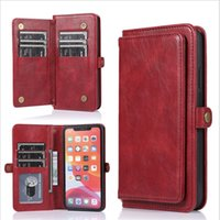 2 in 1 phone wallet case for iphone 11 pro xs max with 9 car...