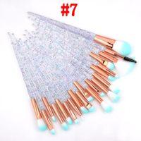 3D Diamond Trucco Pennelli 20pcs Trucco Trucco Set Set Eyeshadow Eyelash Brush Brush Blender Bruslen Brush Polvere Concealer Make up Brushes Kit Strumenti