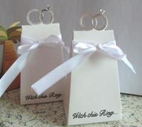 (150 piezas / lote) Caja de souvenirsr de boda con este anillo elegante Favor de cajas para duchas nupciales y caja de regalo de fiesta