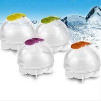 قالب الثلج الكرة DIY الرئيسية المجال آيس كيوب أداة الكرة المستديرة العفن البيت بار للمطبخ ويسكي صانع حزب قالب LJJP15