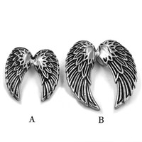 Free shipping Wholesale Eagle Wings Biker Pendant Stainless ...
