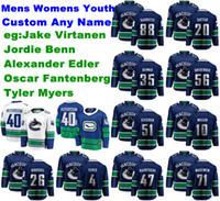 Vancouver Canucks Jerseys Jake Virtanen Jersey Jordie Benn Alexander Edler Tyler Myers Oscar Fantenberg Hockey Jerseys Pedido para hombre