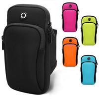 50 adet DHL Gece çalışan cep telefonu kol çantası kapı kol çantası dışında erkek ve kadın spor koşu kol çantası