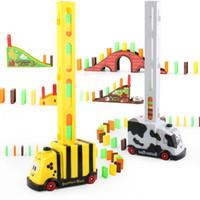 CK kreative Karikatur Bee Cow Domino Automatische Put-in-Bahn, Entwicklungsspielzeug, Eltern-Kind-Interactive-Spielzeug, Partei-Weihnachtskind-Geburtstags-Geschenk-2-1
