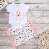 Baby girls Easter INS lovely rabbit rompers 2019 new Newborn...