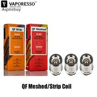 Vaporesso SKRR Reemplazo QF Meshed Coil 0.2ohm QF Strip Coil 0.15ohm fit SKRR Tanque Vaporesso Luxe-S GEN Kit auténtico