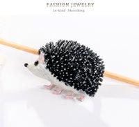 Cute Hedgehog Brooches Fashion Enamel Animal Brooch Pins for Women Jewelry Accessories