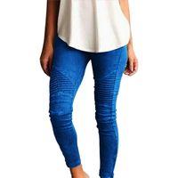 Lady İnce Günlük Pantolon Avrupa Rusya Moda Kadınlar Mavi Yeşil Pamuk Kumaş Çizgili Patchwork Sıkı Bel Elastik Bant Uzun Pantolon