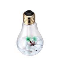 İç Yatay RRA2825-5 ile 400ML USB Ultrasonik Hava Nemlendirici Renkli Gece Işığı Esansiyel Yağı Aroma Diffuser Lamba Ampul Şekli