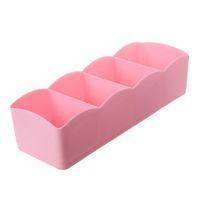 CSS 1 Pc 4 Izgaralar Dolap Çekmece Organizer Bölücü Kutusu Vaka Tie Sütyen Çorap Kozmetik Depolama