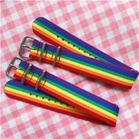 Regenbogen-Streifen-Handgelenk-Gurt-Armband chromatische Jungen und Mädchen Farbe Armbänder Hand Beauty Ornaments gute Qualität der neuen Ankunfts-4msH1
