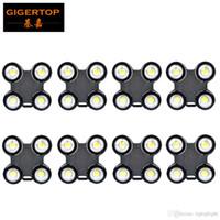 Gigertop 8 Paketi su geçirmez Çin COB LED kör Işık 4 Gözler İzleyici Işık X Yapısı Şekil Beyaz / RGBW / RGBWA UV 6in1 Opsiyonel Freeship