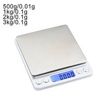 0.01 / 0.1G الدقة LCD الرقمية الموازين 500 جرام / 1/2 / 3 كيلوجرام البسيطة الالكترونية غرام الوزن مقياس التوازن على مقياس الشاي الخبز وزنها مقياس