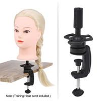Mannequin Cabeça de Formação Stand Holder peruca de cabelo suporte Desk tabela braçadeira Suportes Ferramenta de cabeleireiro
