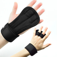 Gym Hand Protector Leather Palm Grips Gloves Fitness Boxing ...