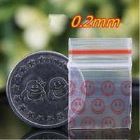 0. 2mm 400pcs face printing small size Self Sealing Zip Lock ...