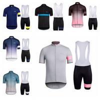 Manchons courts Cyclisme Jersey Bib Bib Summer Rapha Team Vêtements de vélo Vêtements BIQUES BIQUES COURTS Vélo Ensembles de vêtements de sport H070109