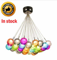 Modern LED Colorful Glass Ball Pendant Lights Lamps 3 37 bal...