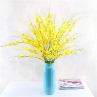 108cm 6 컬러 홈 웨딩 파티 장식 아름다운 진짜 터치 인공 Oncidium 난초 장식 실크 꽃