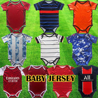 2020 2021 Baby Soccer Jerseys من 6 إلى 18 شهرا قمصان كرة القدم كرة الرضع مجموعات الفريق ارتداءها 20 21 الزحف الملابس مايلوتس فوتبول