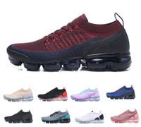 2018 nuevo Knit vapormax flyknit 2018 2.0 Fly 1.0 Zapatillas de running Hombre Mujer BHM Red Orbit Metallic yellow Triple Black Shoes Sneakers Trainers 36-45