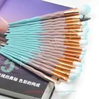 20pcs Steinbohrer Greifen Augen-Bürstensatz Einhorn Lidschattenpinsel Makeup Augenbrauen Pinsel Make-up Schönheit Werkzeug Dressing.