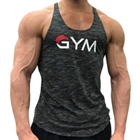 Mens Bodybuilding Tank Tops Gyms Fitness Workout Quick dry S...