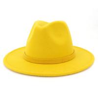 2019 Sonbahar ve Kış Katı Renk Dikilen Şapka Seyahat Cap Fedoras Caz Şapka Panama Şapkalar Kadınlar ve Kızlar için 25